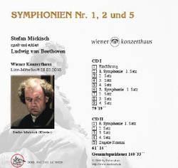 Ludwig van Beethoven – Symphonien Nr. 1, 2 und 5 – 2 CDs
